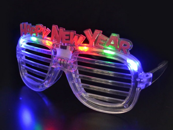 LED Flashing Text Shutter Glasses