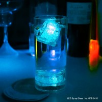 Plastic Flashing Light Wine Promotional LED Glass