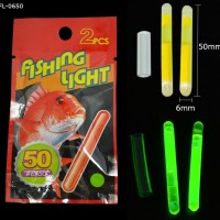 6x50mm glow fishing light stick
