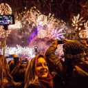 New Year's Fireworks Night in London