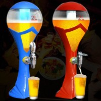 High Quality Plastic Material LED Flashing Beer Towers