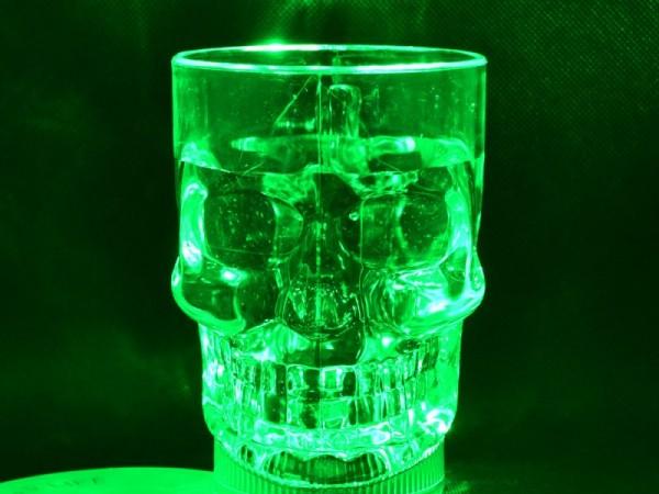 Beer mug 14oz halloween skull led cup