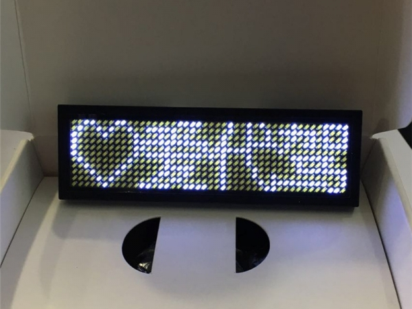 LED Programmable Badge