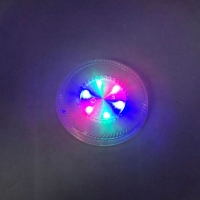 LED colorful light round luminous cup pad