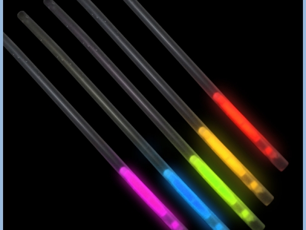 Hot seller bar decoration glow stick straw