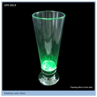 LED Flashing Lady Glass Colorful Light