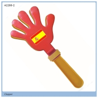 Plastic Mini Hand Clapper/football fans noise maker