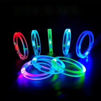 LED flashing acrylic bracelet