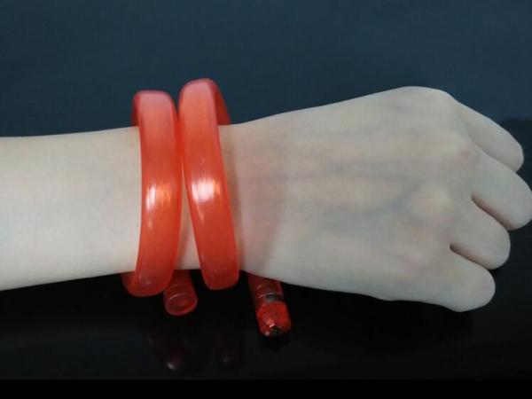 Tube LED flashing PU bracelet