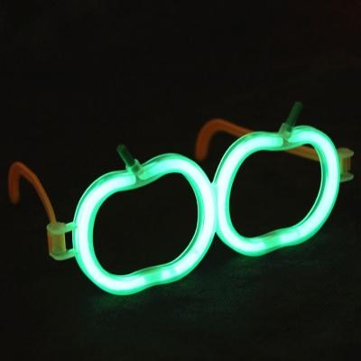 Glow in dark apple eyeglass