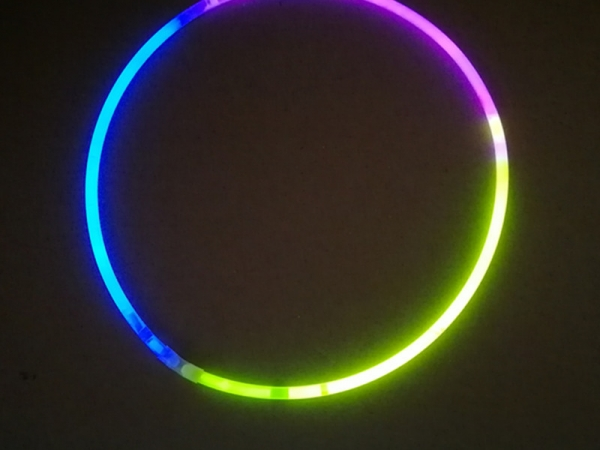 Chemical glow stick necklace