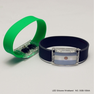 LED silicone flag bracelets