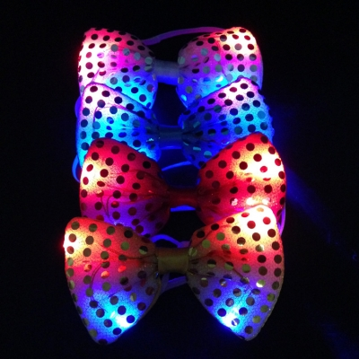 party LED light bow ties