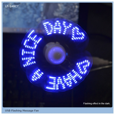 USD Chargeable LED falshing fan