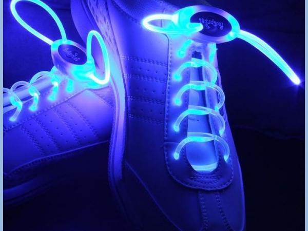 flashing LED light shoelace