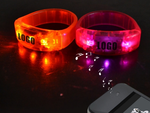 Party favor led flashing remote control bracelet for sale