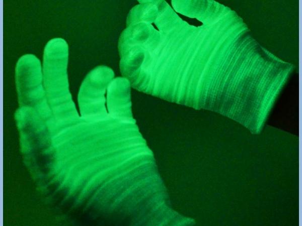 Glow in the Dark Fluorescent Gloves