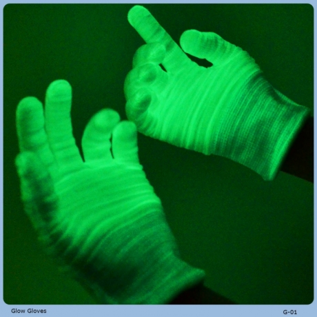 Glow in the Dark Fluorescent Gloves