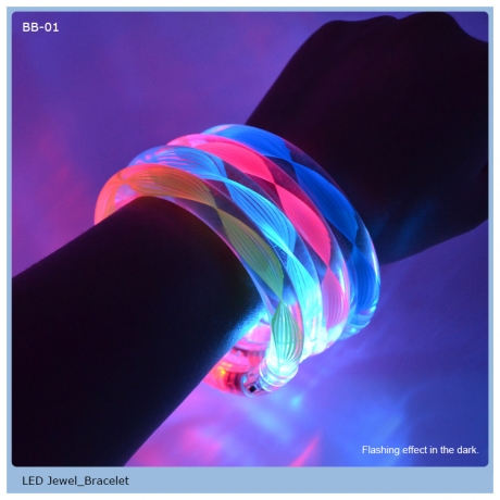 Acrylic led colorful flashing bracelet