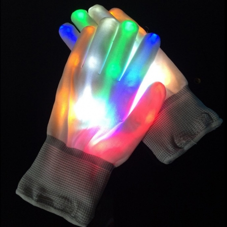 LED Flashing Gloves for party