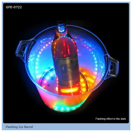 Color Changing LED Flashing Ice Barrel