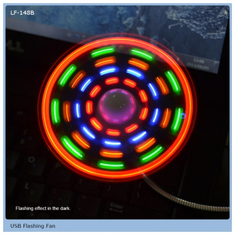 2020 Good design led flashing mini USB fan