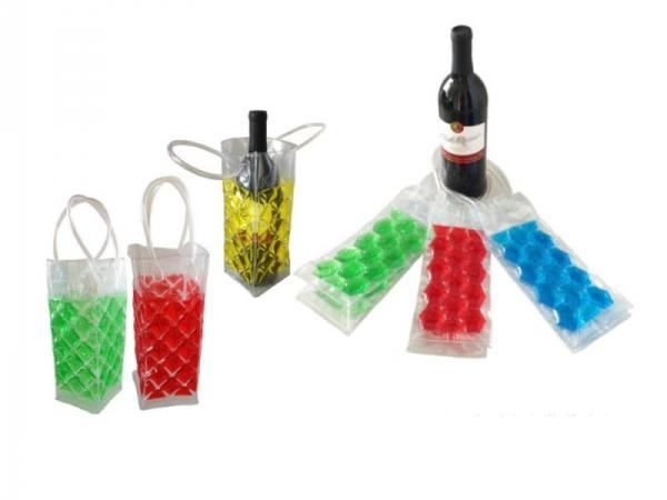 Clear PVC ice bag wine ice bottle bag cooler bag
