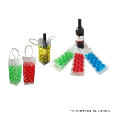 Clear PVC ice bag wine ice bottle bag cooler bag