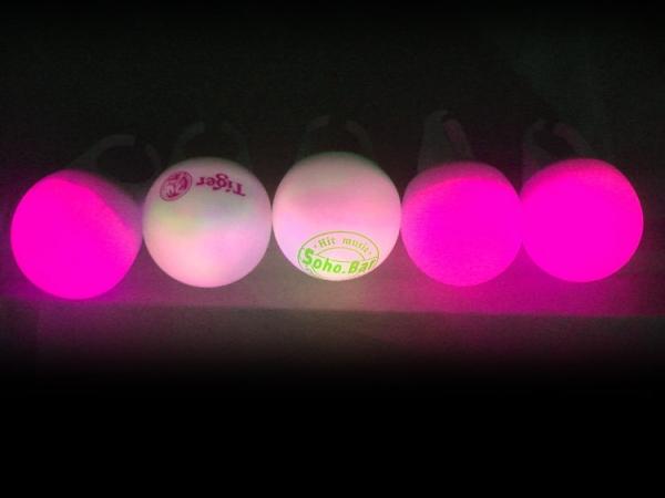 PVC led colorful flashing key ring light