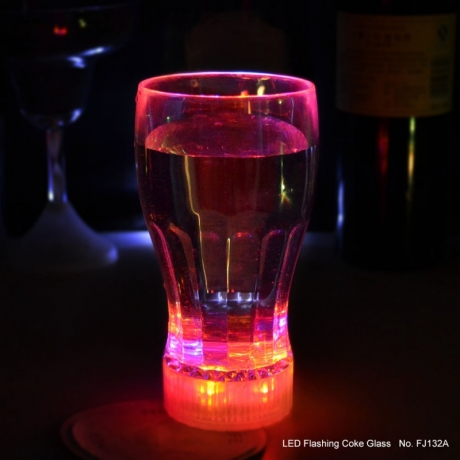 350ml volume color changing flashing glass for party