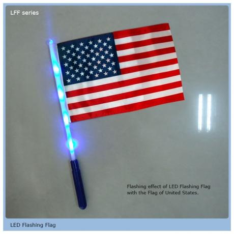 Customed cheering colorful light led flashing flag