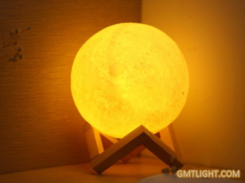 3D print rechargeable touch & remote co<em></em>ntrol 3D moon light