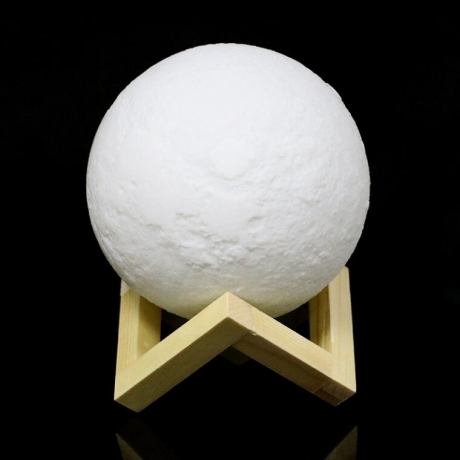 3D print rechargeable touch & remote control 3D moon light