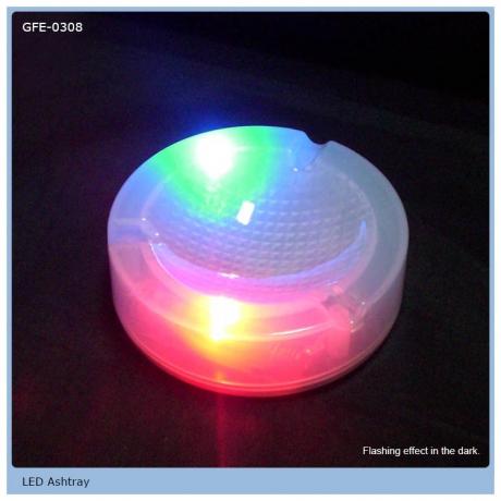 Color Changing LED Light Up Flashing Ashtray