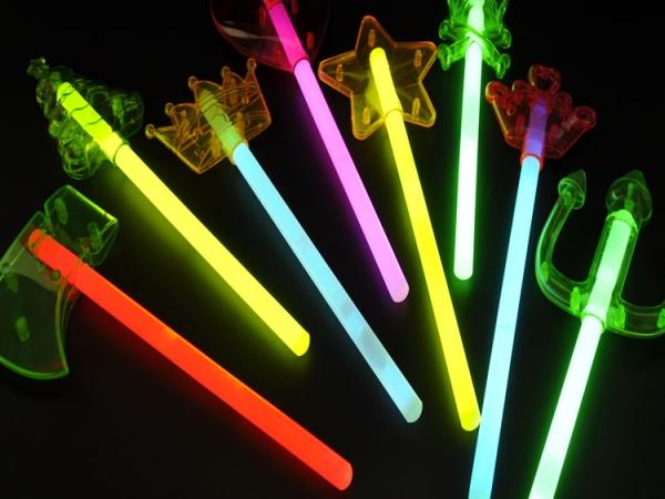 Halloween devil fork glow stars stick
