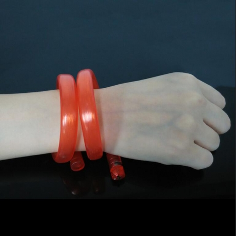 Fiber blinking LED bracelet