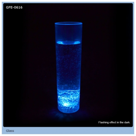 300ml Volume Flashing Blue LED Glass For Dancing Party
