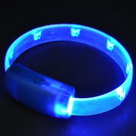 New design TPU material led flashing bracelet