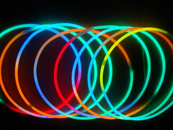 Square shaped colorful light led lighting necklaces