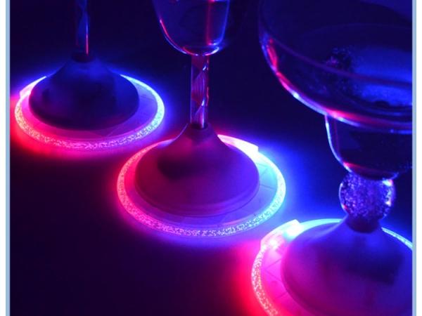 Plastic LED Flashing Coaster