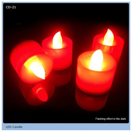 High quality led candle with colorful light