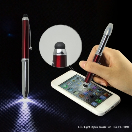 Business Gift LED Light Stylus Touch Screen Ball Pen