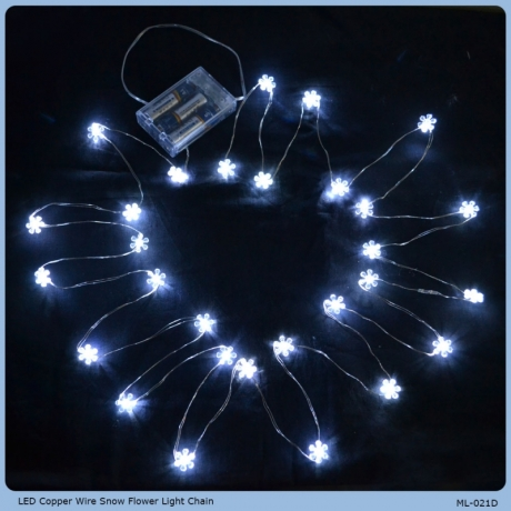 Table decoration battery operated led Christmas light chain
