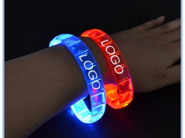 LED Flashing Silicone Rubber Bracelet