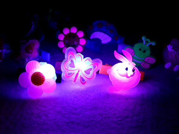 Beautiful Hair decoration light LED falshing hairpin for the children