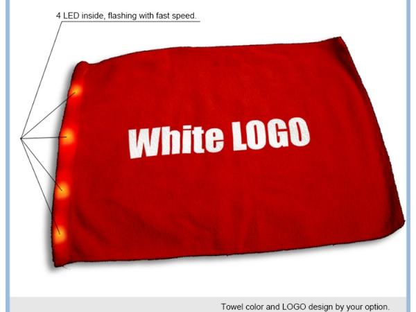 LED cheering light towel
