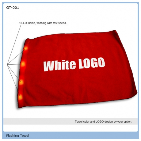 LED cheering light towel