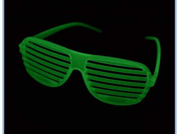 Luminous / Glow in dark shutters glasses