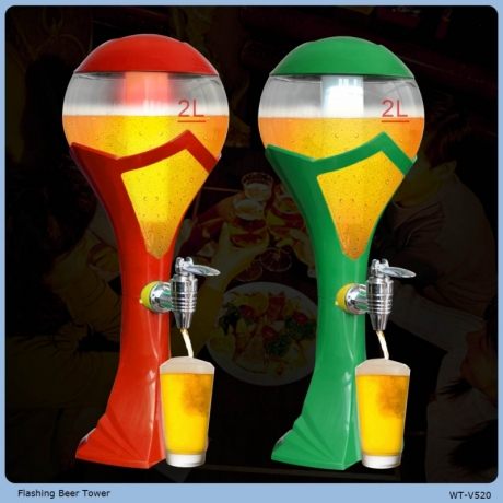 LED High Quality Plastic Flashing Beer Towers