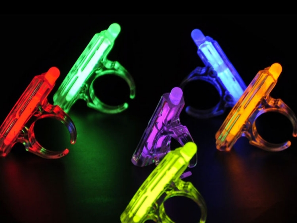 Party body decoration fluorescent luminous glow rings